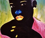 OMON SOPHIA IGBINOVIA, Susan (Warrior's Dairy I), Acrylic on Paper, 38cm x 56cm, 2021