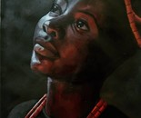 OGBONNA DIVINE FAVOUR, Nwa Afó (Child of the soil), Acrylic on cartridge Paper, 12 x 16 inches, 2020