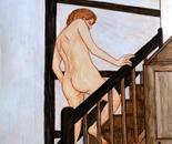 Modèle montant l'escalier