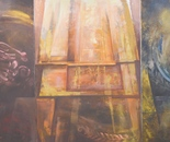 Architecture series. 100x210cm.Oil painting. (Triptych)