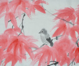 Red Leaves and Little Bird