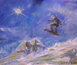 Snowboarder in volo