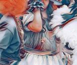 Lady at Mardi gras