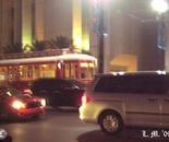 Streetcar at dusk