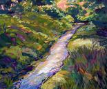 Spring Rain Fills The Dry Creek At Dusk