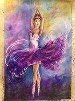 A ballerina in purple dress
