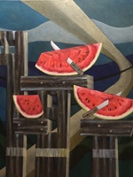 LANDSCAPE WITH WATERMELONS
