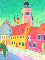 Clock tower in Sibiu