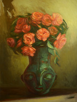 Roses and the Vase