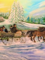 Horse carriage ride in the winter