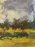 'Sky Study with Vineyard'