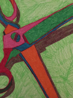 Scissors on Green
