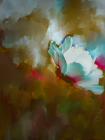 Magnolia on abstract