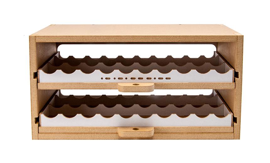 Slide&Tilting Drawer Paint Shelf OPERA-19A (For acrylic, enamel) Thumbnail Image 3