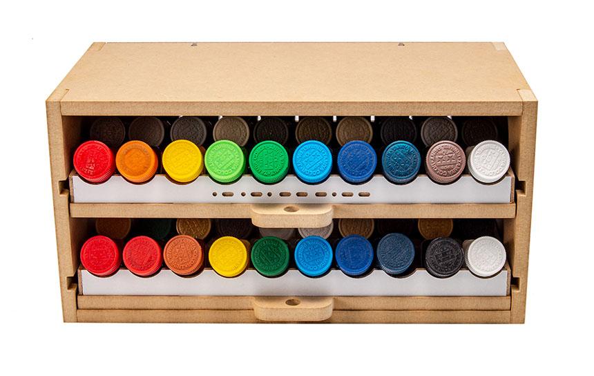 Slide&Tilting Drawer Paint Shelf OPERA-19A (For acrylic, enamel) Thumbnail Image 8