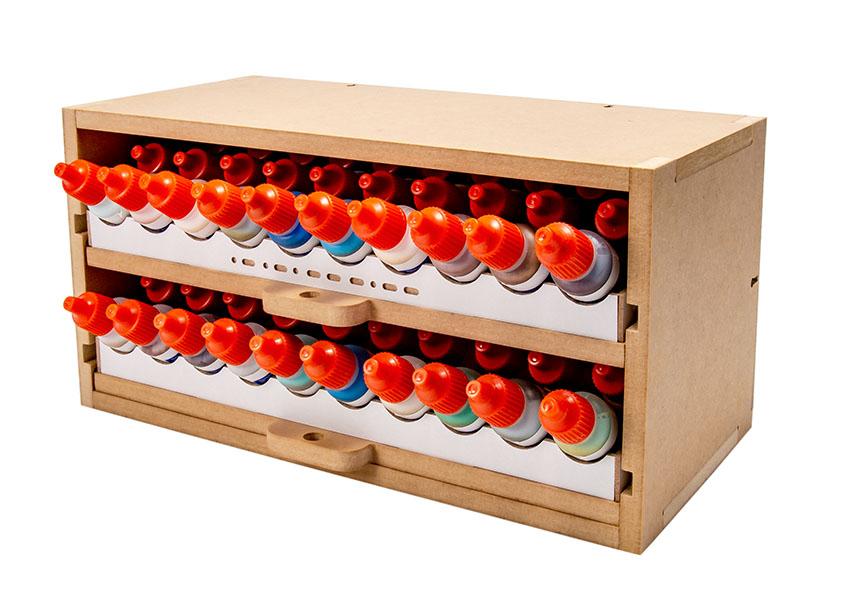 Slide&Tilting Drawer Paint Shelf OPERA-19A (For acrylic, enamel) Thumbnail Image 11