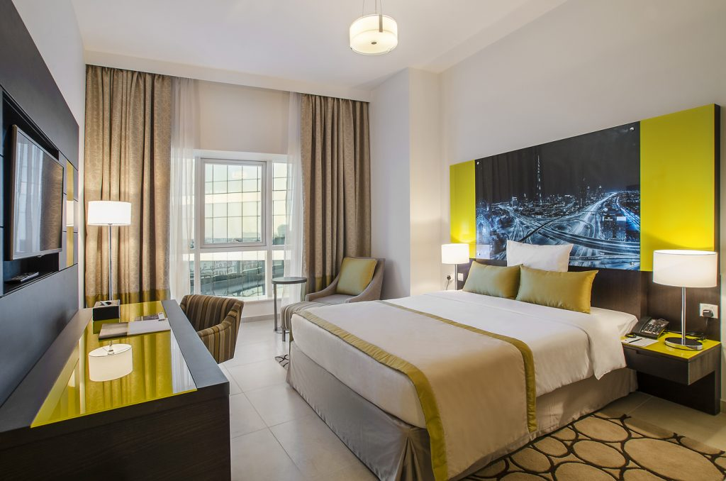 A luxurious Bedroom at the Aparthotel