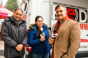 6 L-R Baldev Singh Mann, RJ Inderpreet and Shivraj Ghuman