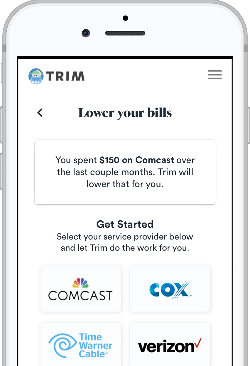 Trim | An Assistant That Saves You Money