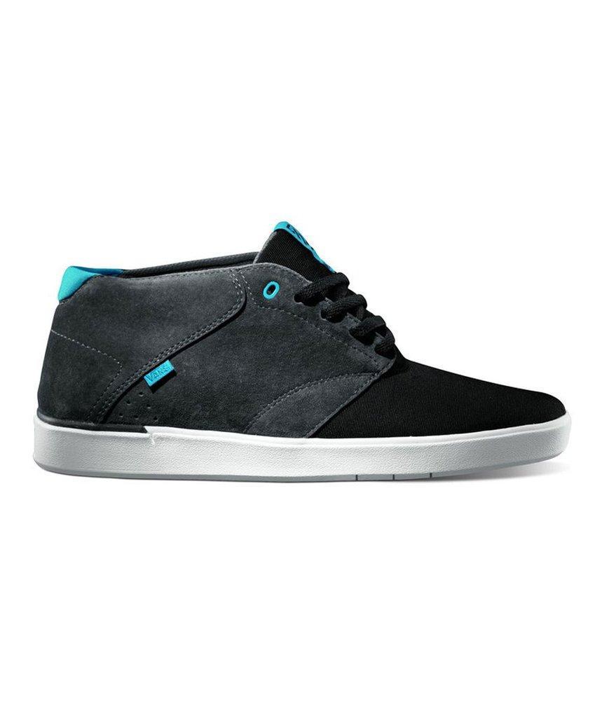 a2d53dc0c9 Details about Vans Men s Secant LXVI Skateboarding Shoes Grey Charcoal  Light Blue