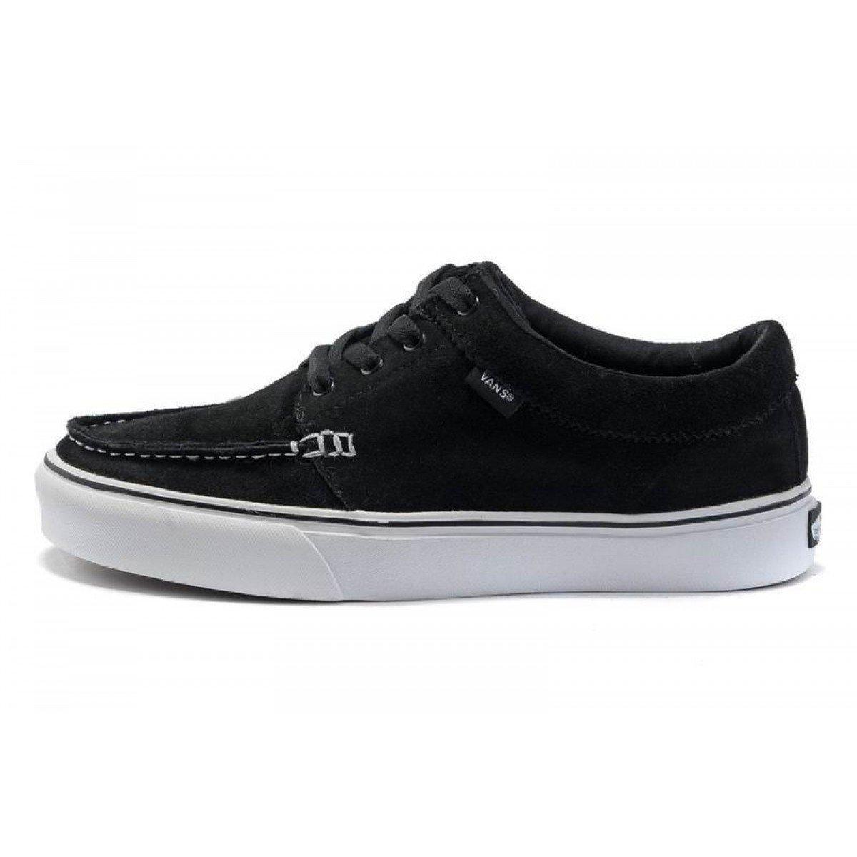 1d06889469 Vans 106 Moc (Suede) Black Mens Skateboarding Shoes