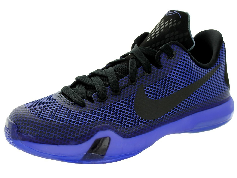 big sale e7094 2b12b Nike Kobe X GS (Blackout) Basketball Shoes Black Persian Violet-Vlt ...