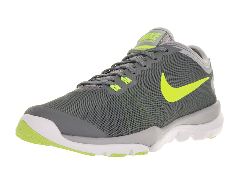 c9cccdd67648e Nike Women s Flex Supreme Tr 4 Cool Grey Volt Pure Platinum Training Shoes.  Nike