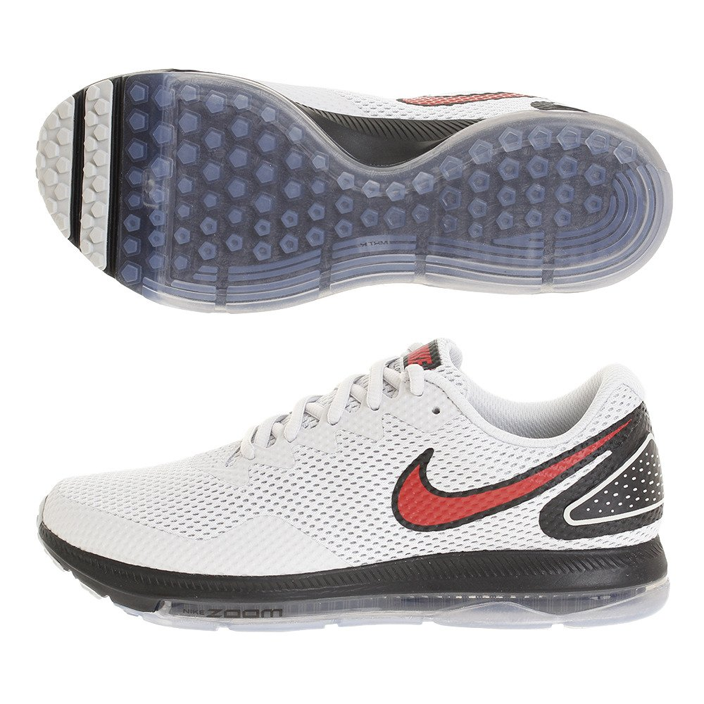 e374545930bc9 Nike Men s Zoom All Out Low 2 Running Shoe Pure Platinum University Red  Black. Nike