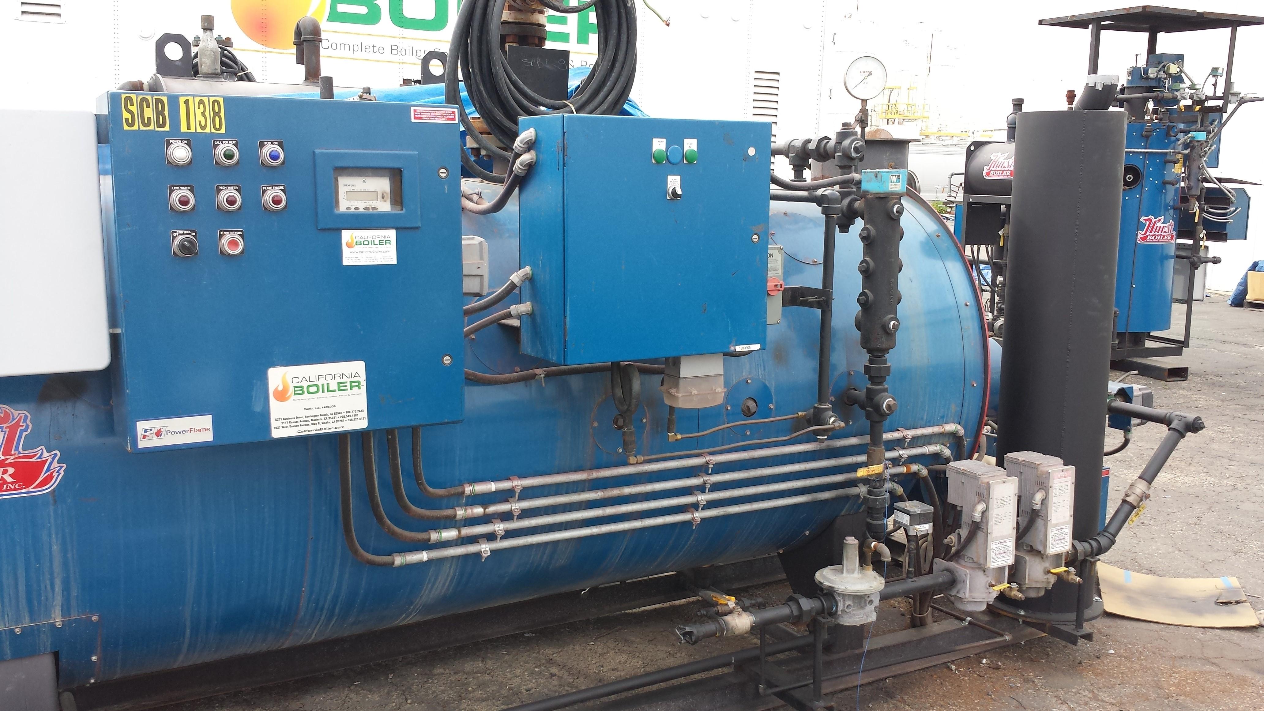 SCB-138   50HP Hurst Skid Package Boiler for Rent