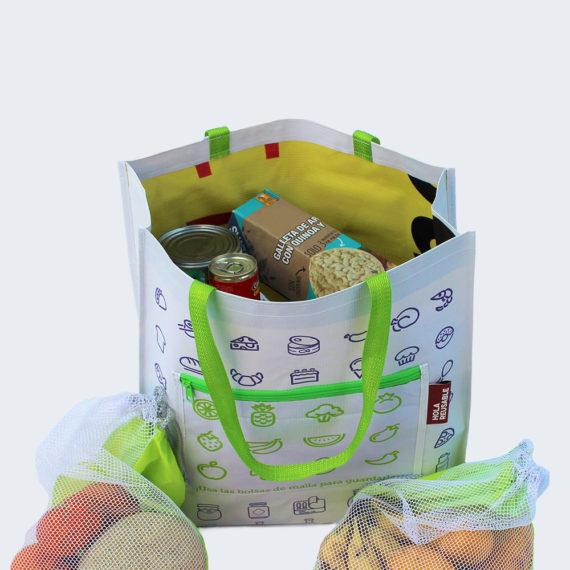 Bolsas Lona 4 De Y Malla Reutilizables FKclT1J