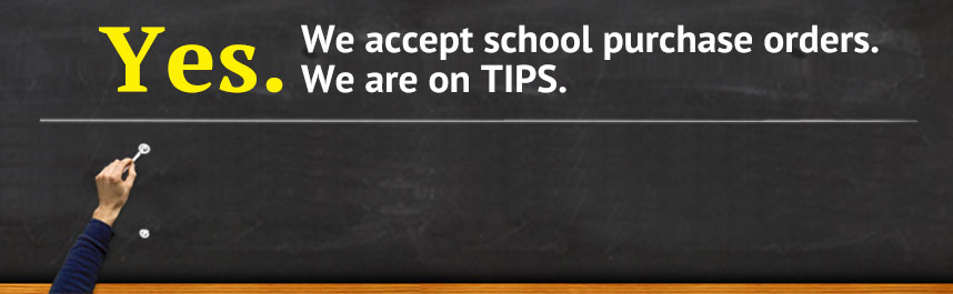 Yes. We accept school purchase orders.
