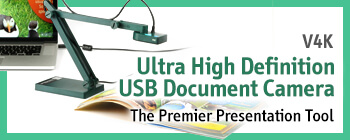 V4K Ultra High Definition USB Document Camera