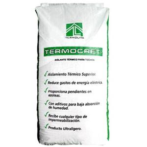 Agregado ultraligero de perlita mineral expandida para fabricar termocreto y proporcionar aislamiento térmico y pendientes pluviales en azoteas.