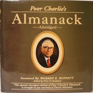 cover photo of classic investment book, Poor Charlies Almanac by Charles Munger