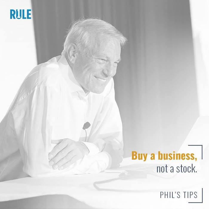 phil town quote buy a business not a stock