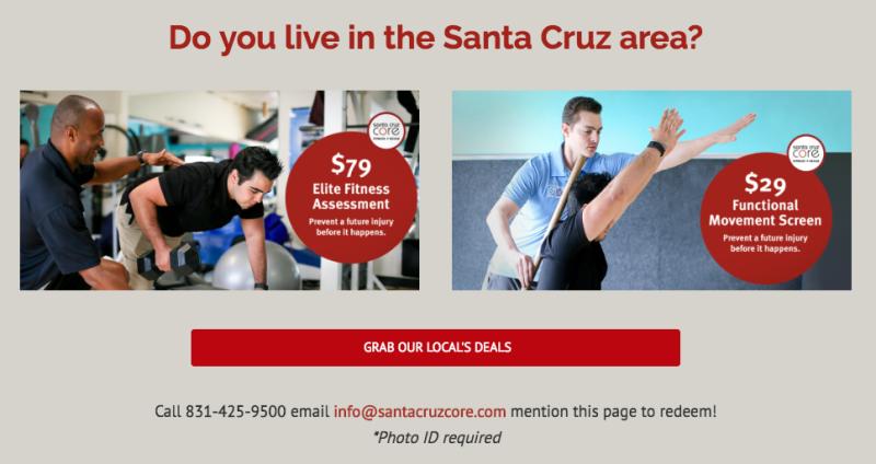 santa cruz core fitness assessments