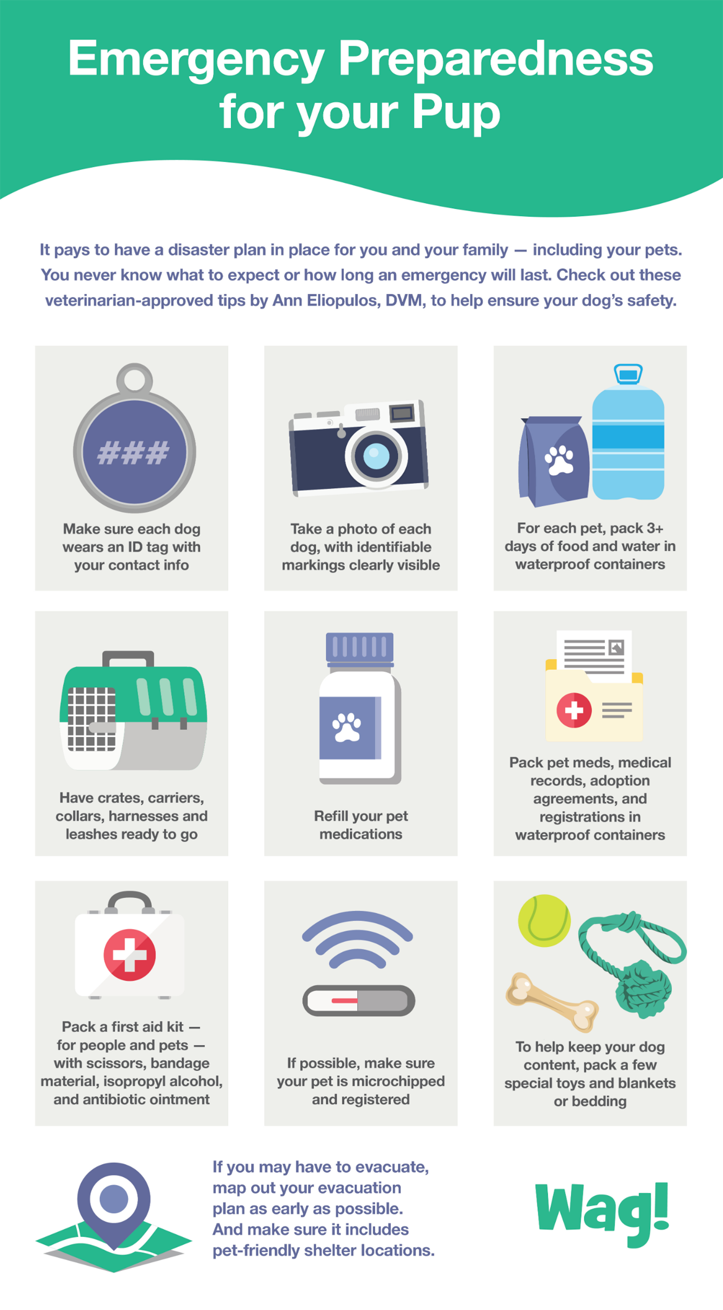 2021 emergency preparedness checklist for pet parents who own dogs and cats