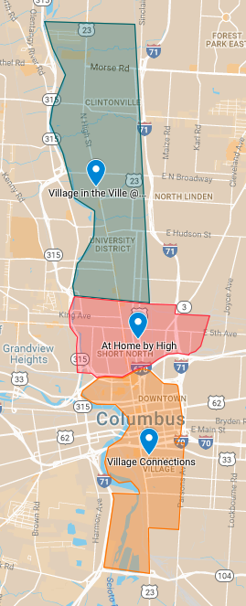 Greater Columbus Network of Villages Service Areas