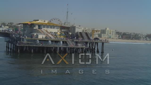 Santa Monica, California Aerial Stock Footage | DCA05_093