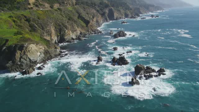 Big Sur, CA Aerial Stock Footage