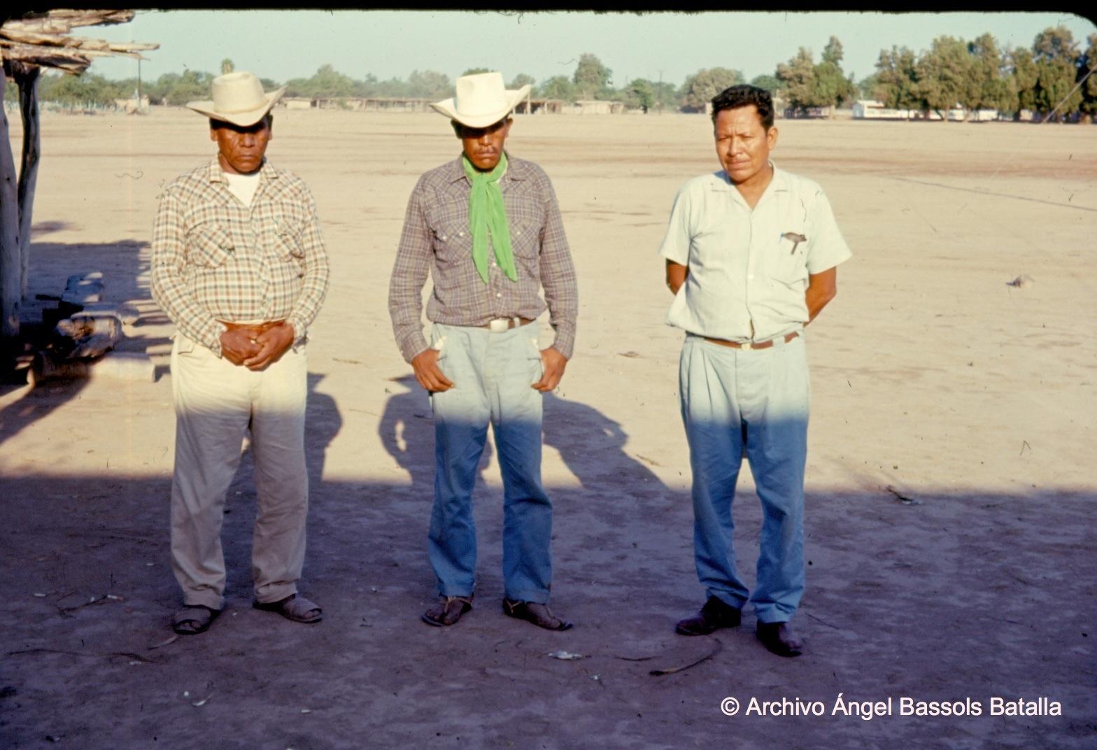 Los jefes yaquis y mestizo en Bácum