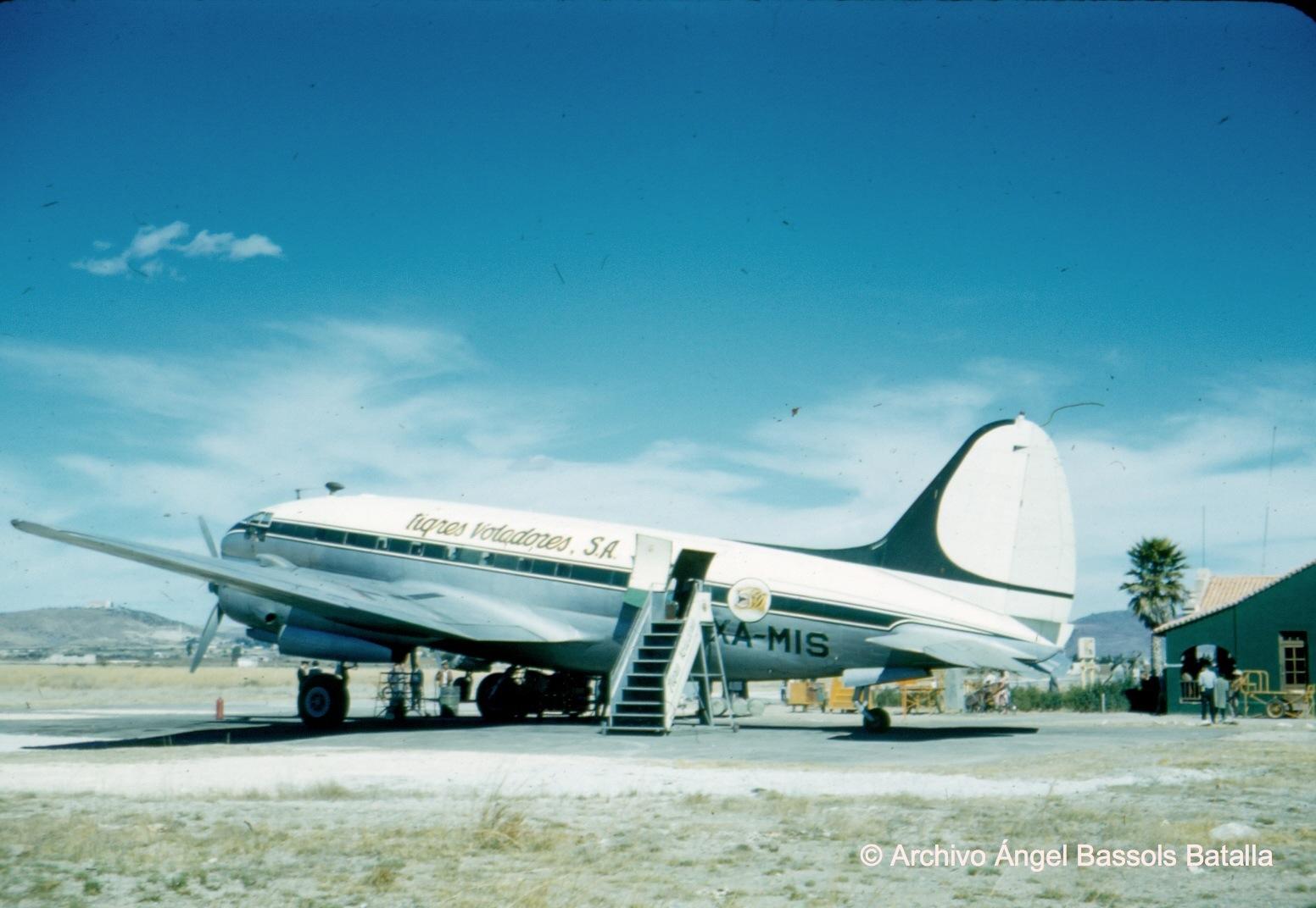 El avión que nos trajo de Baja California