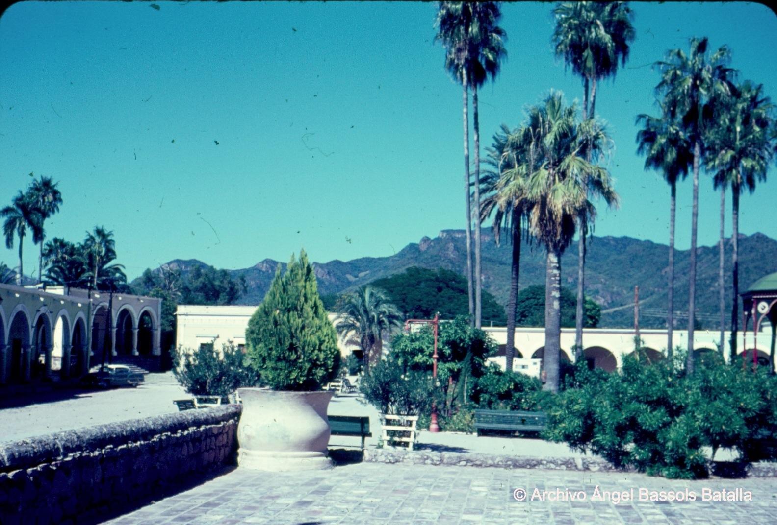 Plaza central de Álamos