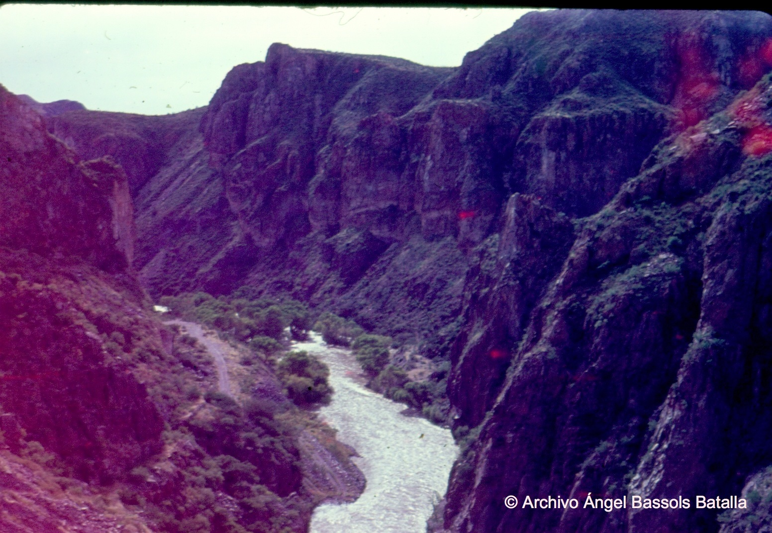 Cañón del río Bavispe NE de Sonora