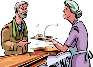 homelessness-clipart-woman_at_a_soup_kitchen_feeding_a_homeless_man_100803-151500-346042