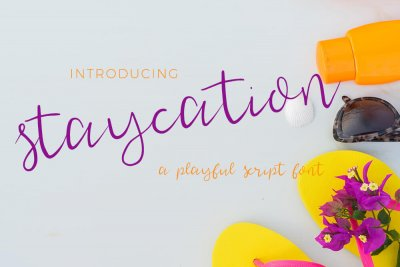 casual Staycation Script Font