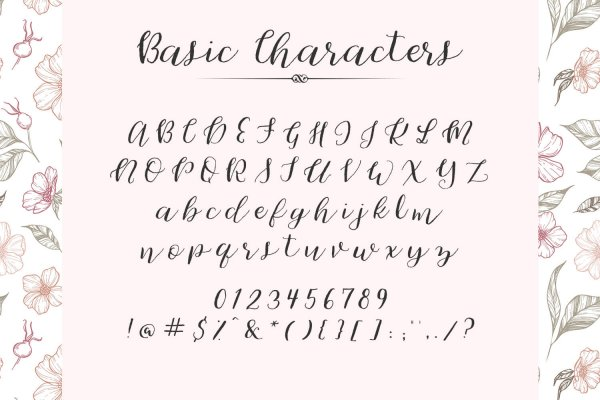 characters for Cherokee Rose Calligraphy Script