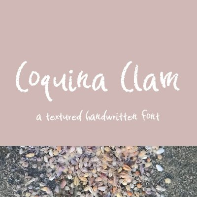 Coquina Clam Hand-lettered Font