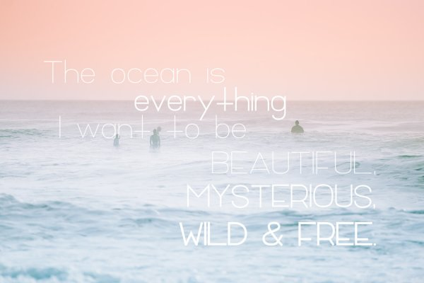 ocean quote Florida Girl Sans Family