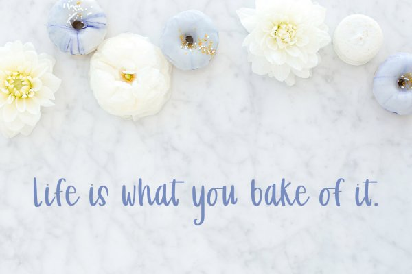 life what you bake Patisserie Script